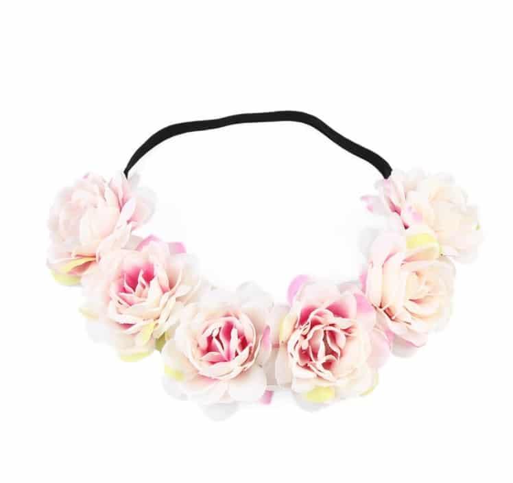 Grosse couronne Bandeau Floral EVJF